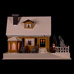 Lichterhaus Haus mit Weihnachtsstube  -  27cm