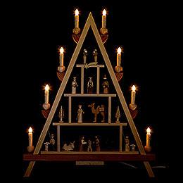 Lichterspitze Christi Geburt  -  55x68cm