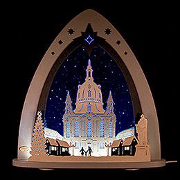 "Lichterspitze LED ""Dresdner Frauenkirche""  -  52x53,5x9cm"