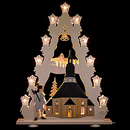 "Lichterspitze ""Seiffener Kirche""  -  LED  -  52x67x6cm"
