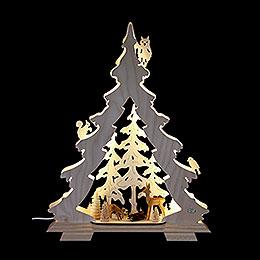 Lichterspitze Tanne Waldidylle  -  32x42x7,5cm