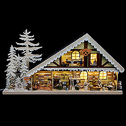 Light House Bakery with White Frost  -  70x38cm / 28x15 inch