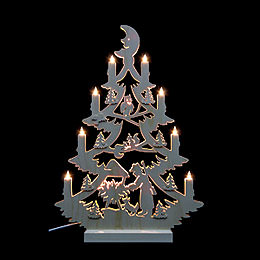 Light Triangle  -  Christmas Tree  -  47x34x5,5cm / 18x13x2 inch