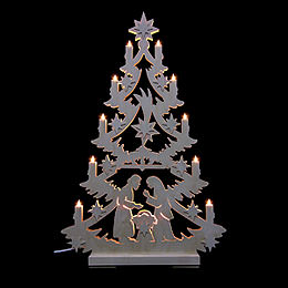 Light Triangle  -  Christmas Tree  -  70x46x5,5cm / 27x18x2 inch