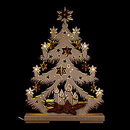 Light Triangle  -  Fir Tree with Stars  -  32x44cm / 12.6x17.3 inch