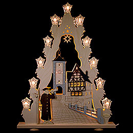 "Light Triangle  -  ""Rothenburg ob der Tauber""  -  52x67x6cm / 20.5x26x2.4 inch"