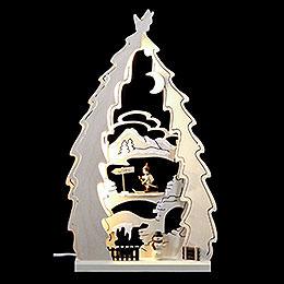 Light Triangle  -  Tree Cross Country Ski  -  43x25x4,5cm / 17x10x1.7 inch