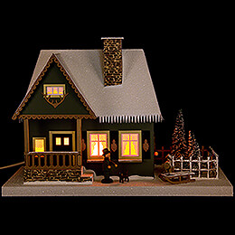 Lighted House Old Forester's Lodge  -  25cm / 9.8 inch