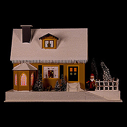 Lighted House with Christmas Parlor  -  27cm / 10.6 inch