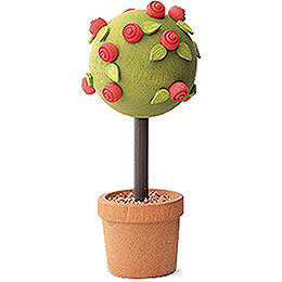 Little Rose Tree, Red  -  7,5cm / 3 inch