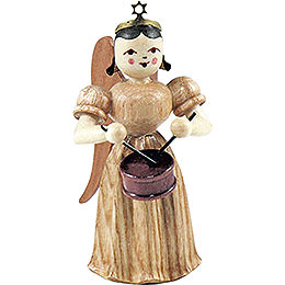 Long Pleated Skirt Angel with Drum, Natural  -  6,6cm / 2.6 inch