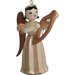 Long Pleated Skirt Angel with Lyre, Natural  -  6,6cm / 2.6 inch
