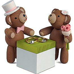 Lucky Bears Wedding Couple  -  3,5cm / 1.4 inch