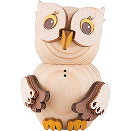 Mini Owl Natural Wood  -  7cm / 2.8 inch