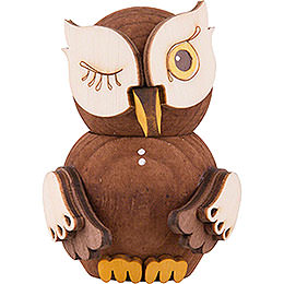 Mini Owl Stained  -  7cm / 2.8 inch