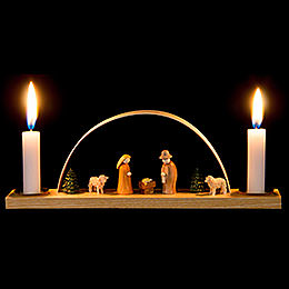 Miniature Candle Arch  -  Nativity Scene  -  22x7,5cm / 8.7x3 inch
