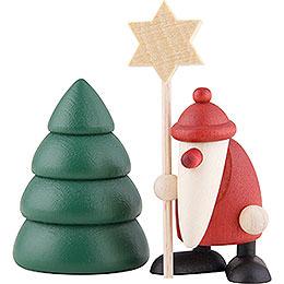 Miniaturen - Set Weihnachtsmann mit Stern  -  4cm