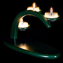 Modern Light Arch  -  Christmas Green  -  without Figurines  -  25x13x10cm / 9.8x5.1x3.9 inch
