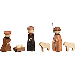 Nativity, 6 pcs.  -  7cm / 2.8 inch