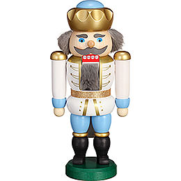 Nutcracker  -  Exclusive King White - Blue  -  20cm / 7.9 inch