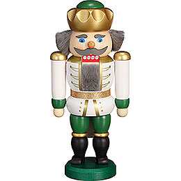 Nutcracker  -  Exclusive King White - Green  -  20cm / 7.9 inch