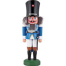 Nutcracker  -  Guard with Saber Blue  -  26cm / 10 inch
