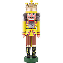 Nutcracker  -  King with Crown Chartreuse Matt  -  43cm / 16.9 inch