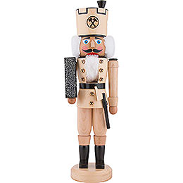 Nutcracker  -  Miner Natural Wood  -  40cm / 15.7 inch