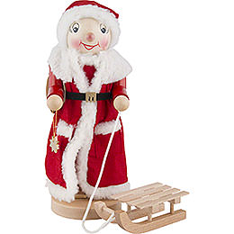 Nutcracker  -  Mrs. Santa with Sleigh  -  36,5cm / 2 inch