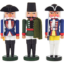 Nutcracker  -  Prussian Officers  -  Set of Three  -  8cm / 3.1 inch