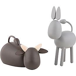 Ochs und Esel  -  KAVEX - Krippe  -  11,5cm