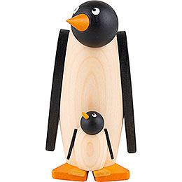 Pinguin mit Kind  -  10cm