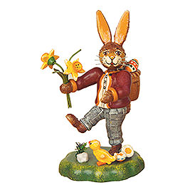 Rabbit Father with Narcissus  -  10cm / 4 inch
