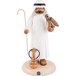 Räuchermännchen Araber mit Falke und Shisha  -  27cm
