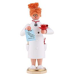Räuchermännchen Frau Doktor  -  22cm