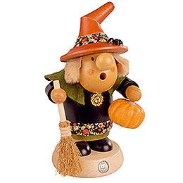 Räuchermännchen Halloween - Hexe mit Kürbis  -  11cm