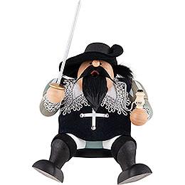 Räuchermännchen Musketier Athos  -  Kantenhocker  -  16cm