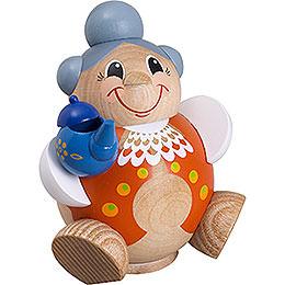 Räuchermännchen Oma Lustig  -  Kugelräucherfigur  -  11cm