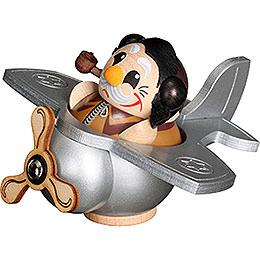 Räuchermännchen Pilot  -  Kugelräucherfigur  -  12cm