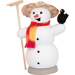Räuchermännchen Schneemann mit Rabe  -  13cm