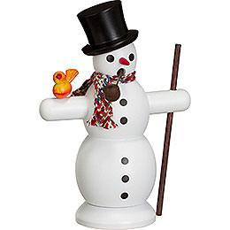 Räuchermännchen Schneemann mit Schal  -  16cm
