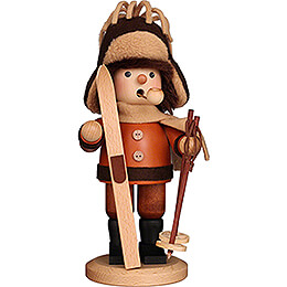Räuchermännchen Skifahrer natur  -  26cm