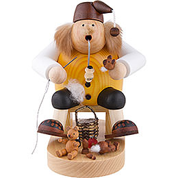 Räuchermännchen Teddymacher  -  Kantenhocker  -  18cm