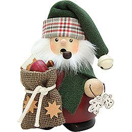 Räuchermännchen Weihnachtsmann mit Sack  -  13,5cm