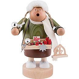 Räuchermännchen Weihnachtsmarktverkäuferin  -  20cm