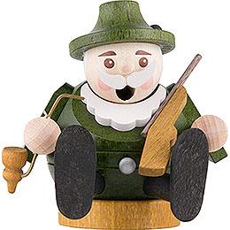 Räuchermännchen mini sitzend  -  Förster  -  7cm