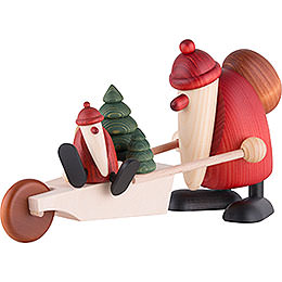 Santa Claus with Wheelbarrow  -  19cm / 7.5 inch