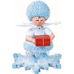 Schneeflöckchen mit Geschenkpäckchen -  5cm