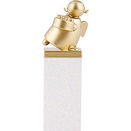 Schutzengel Gold mit Torte  -  8cm