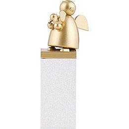 Schutzengel Gold mit Vogel  -  8cm